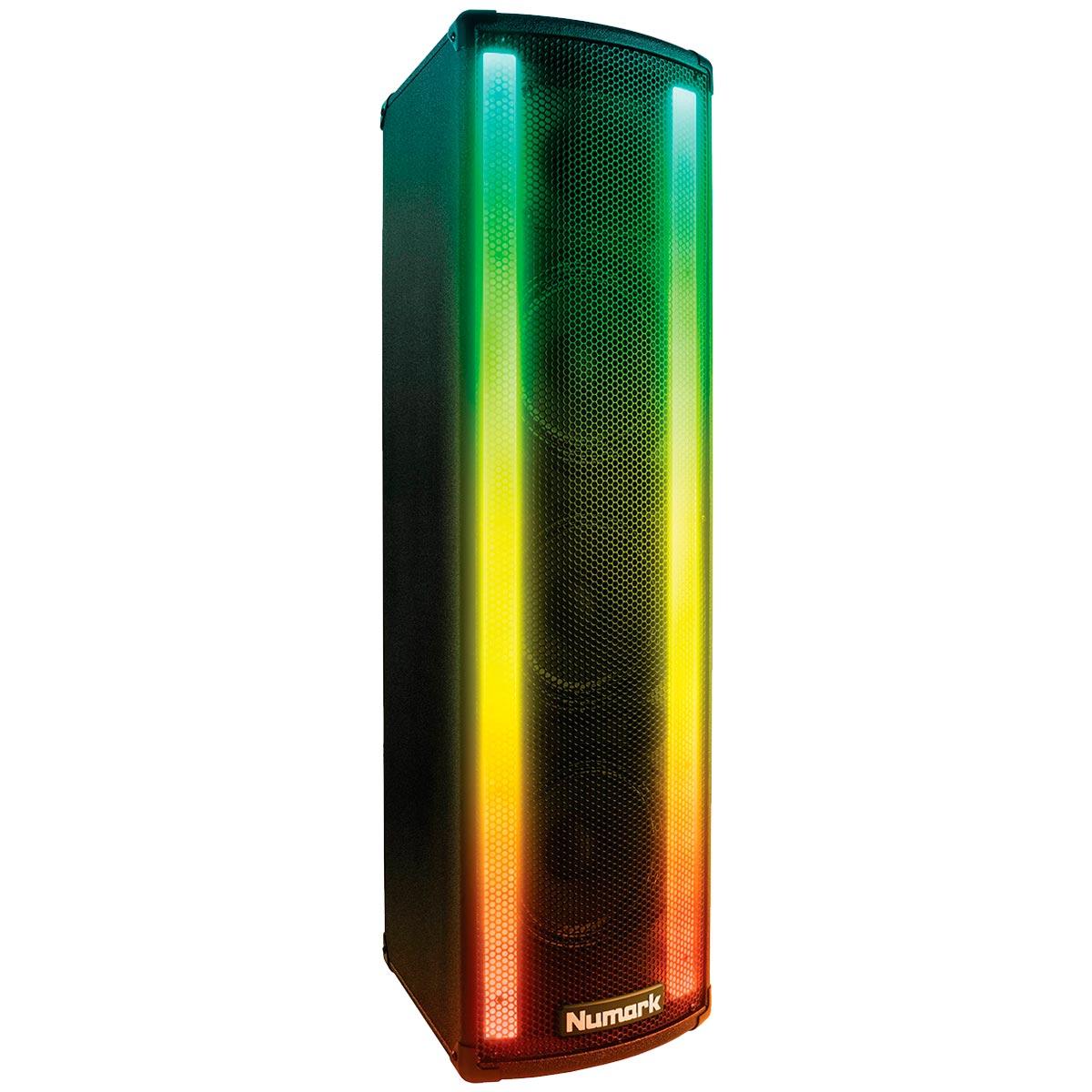 Caixa Ativa Fal 3x6,5 Pol 100W c/ Iluminação p/ DJ - Lightwave Numark