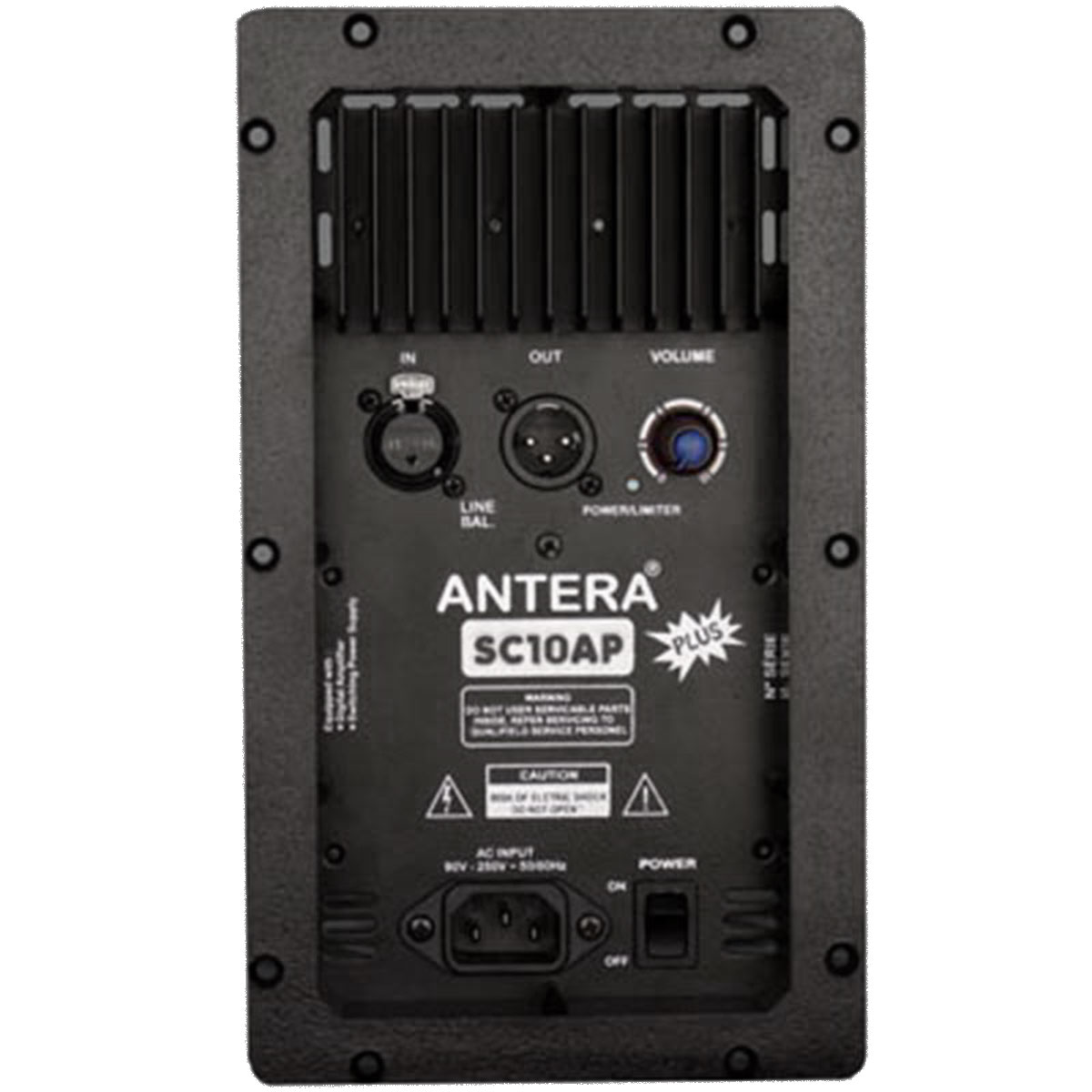 Caixa Ativa 150W SC10AP Plus Preta - Antera