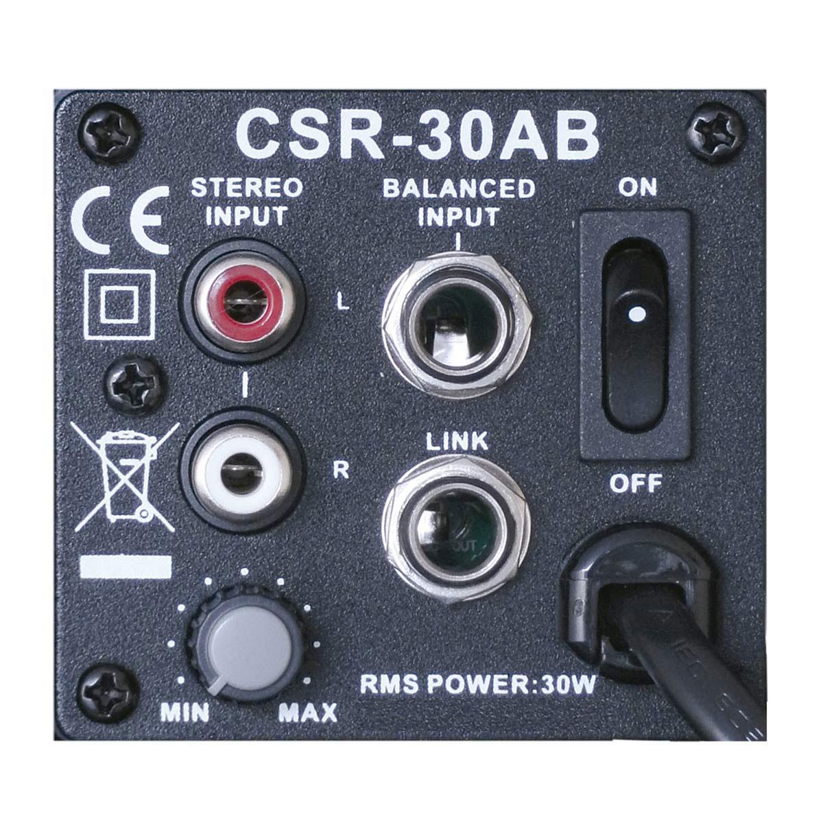 Caixa Ativa 30W c/ Suporte CSR30AB 110V Preta ( Par ) - CSR
