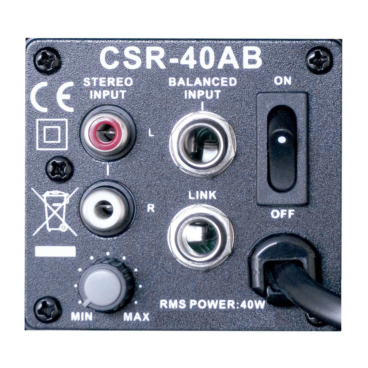 Caixa Ativa 40W c/ Suporte CSR40AB 110V Preta ( Par ) - CSR