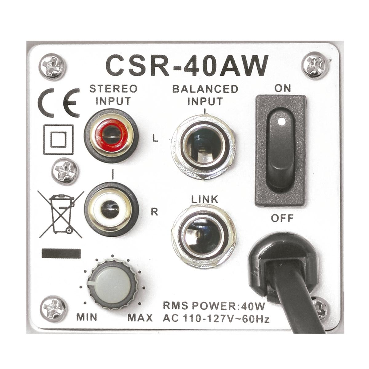 Caixa Ativa 40W c/ Suporte CSR40AW 110V Branca ( Par ) - CSR