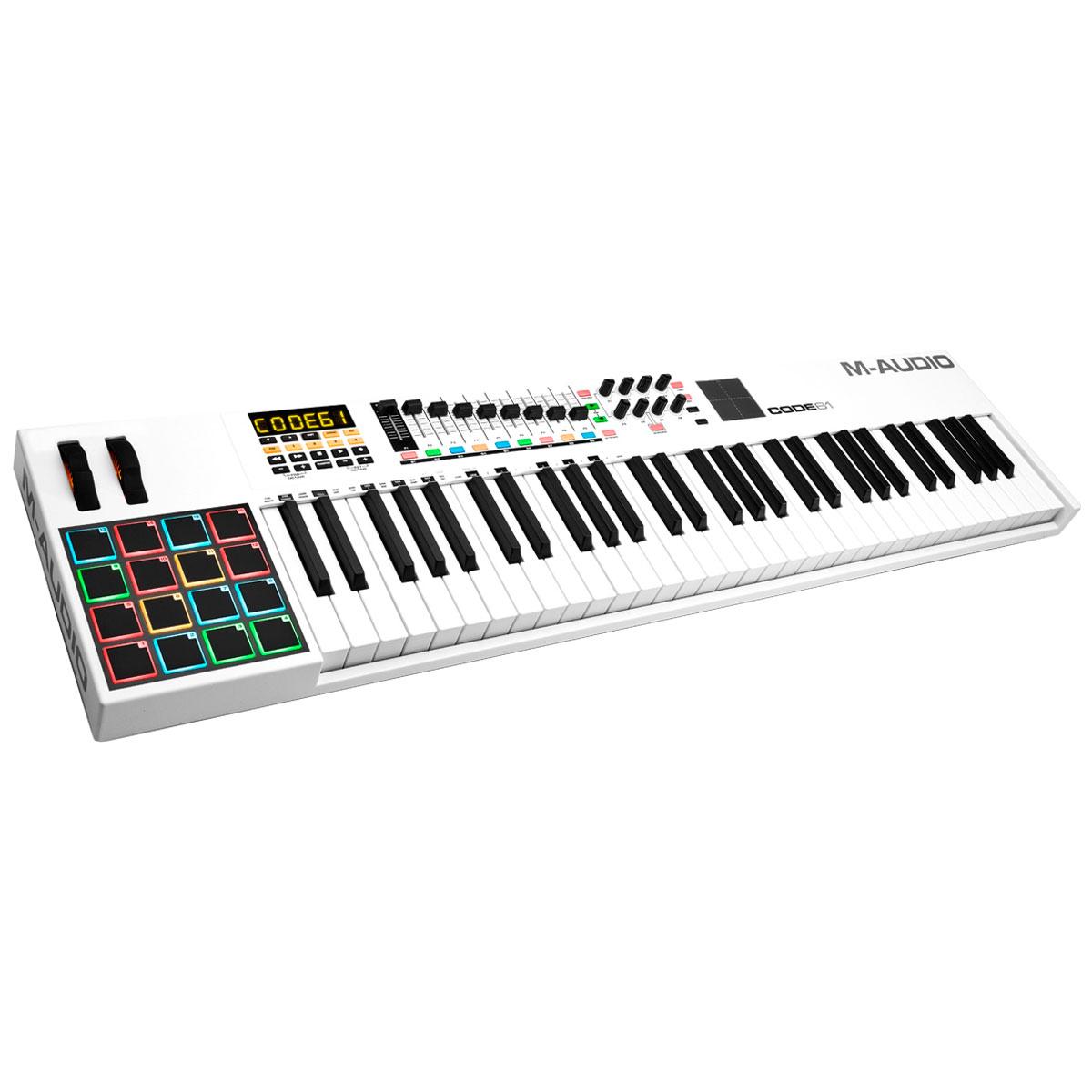 Teclado Controlador MIDI 61 Teclas c/ USB - Code 61 M-Audio