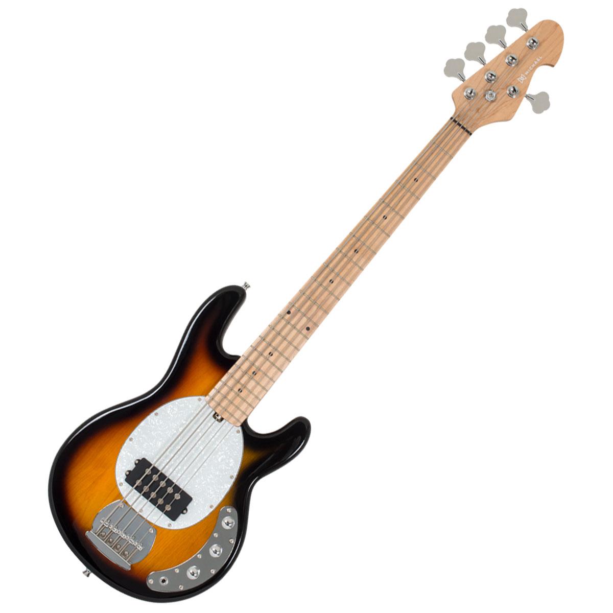 Contrabaixo 5 Cordas Passivo Modern Bass MM Style BM705 VS Vintage Sunburst - Michael