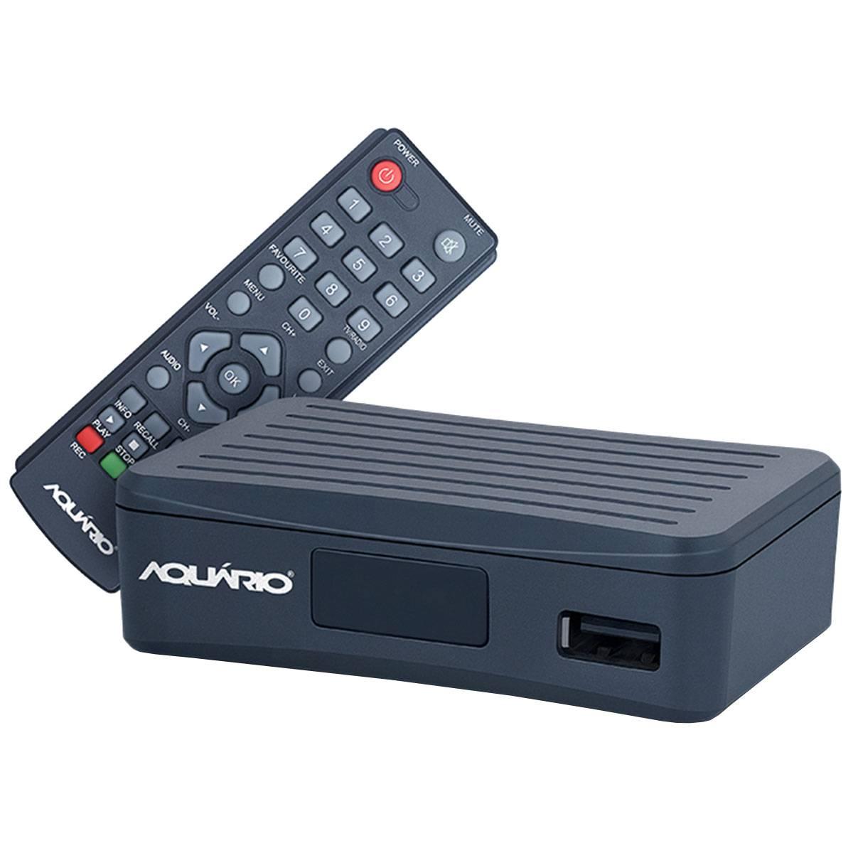 Conversor Digital Full HD p / TV c / USB / HDMI / Gravador - DTV 4000 Aquário