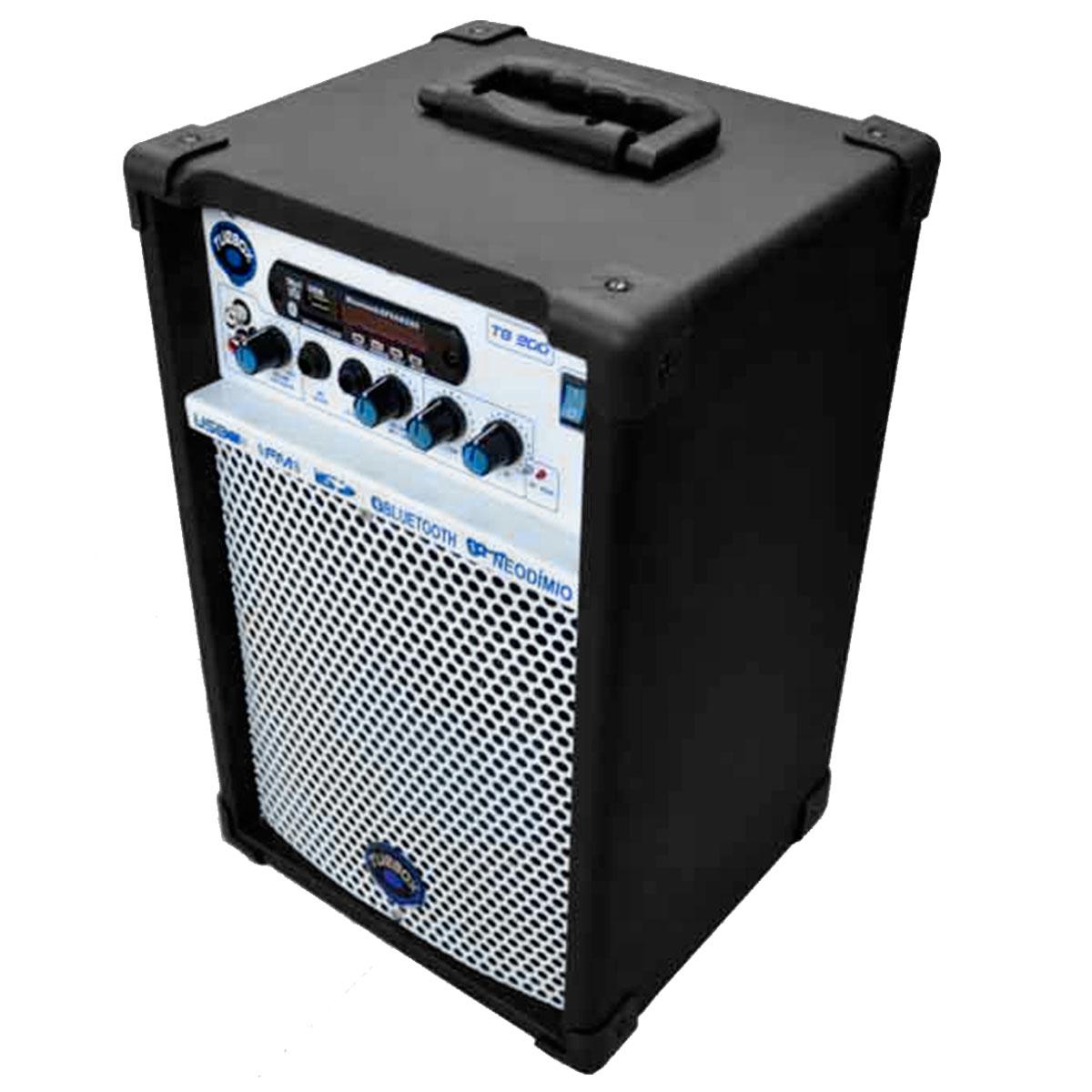 Cubo Multiuso Ativo 50W c/ Bluetooth e USB TB 300 Preto - Turbox