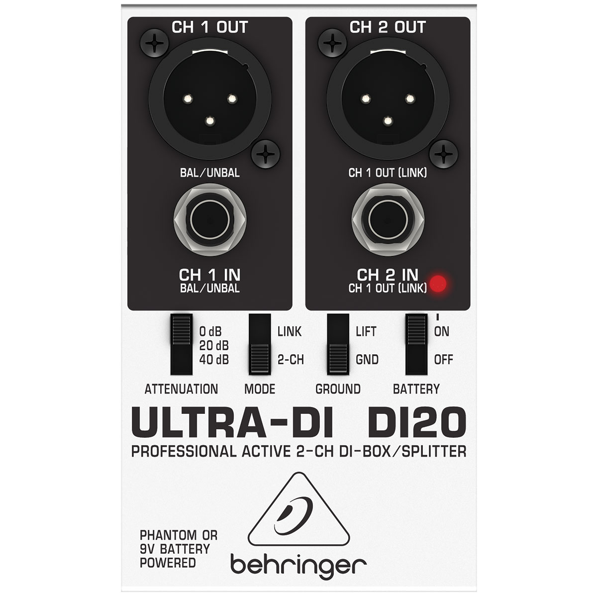 DI20 - Direct Box Ativo Ultra-DI DI 20 - Behringer