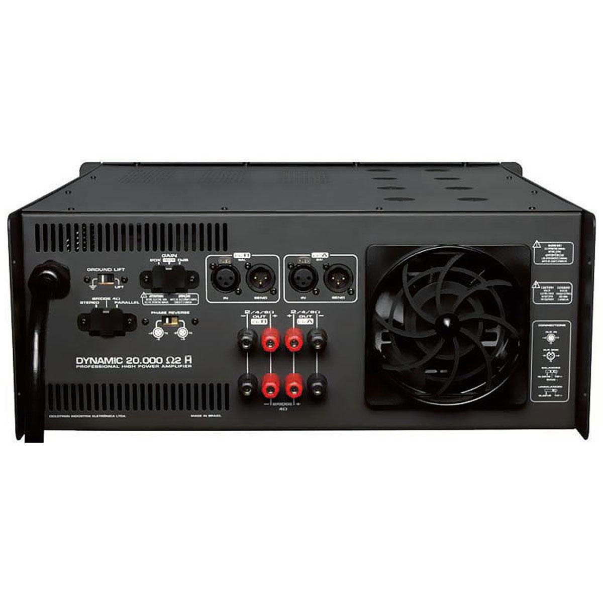 Amplificador Estéreo 2 Canais 5000W RMS ( Total ) Dynamic 20000 2 Ohms H - Ciclotron