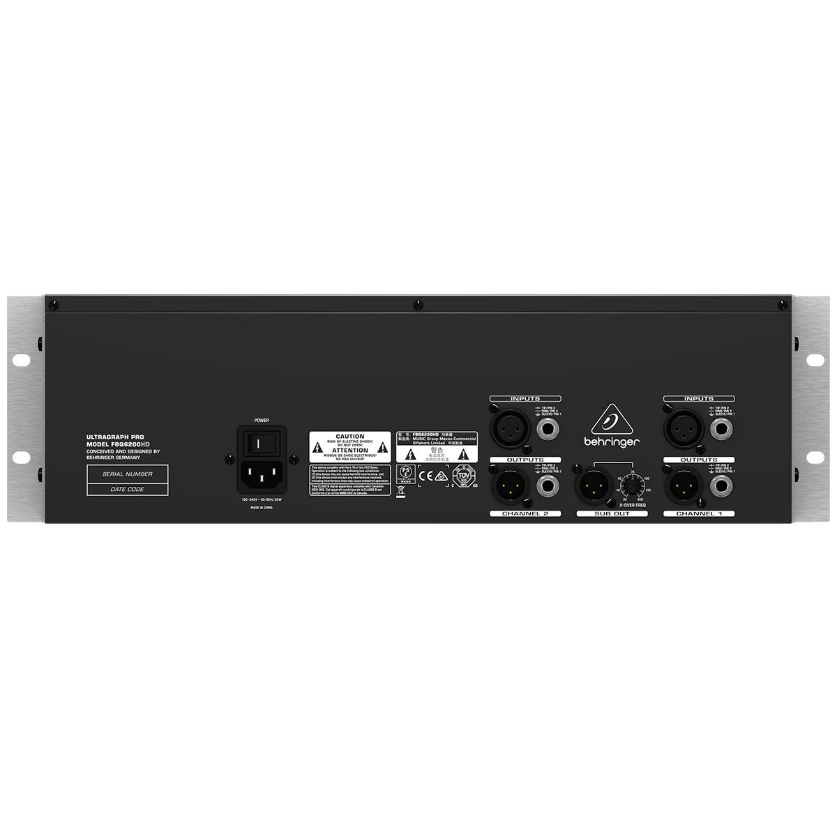 FBQ6200HD - Equalizador Gráfico 31 Bandas Ultragraph PRO FBQ 6200 HD - Behringer