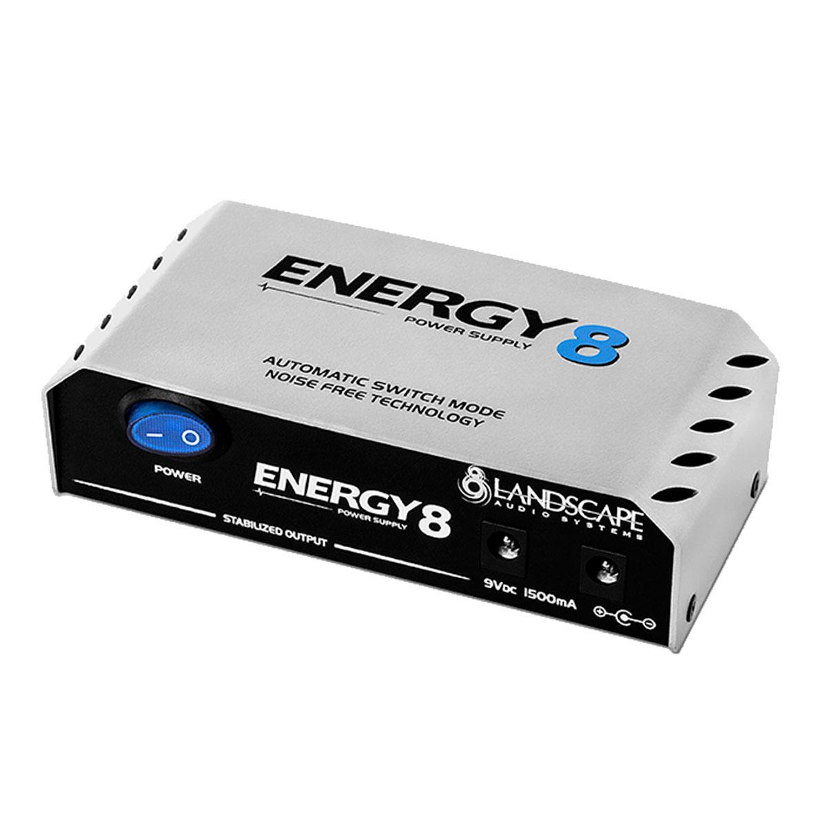 Fonte Automática de 8 Plugs 9V DC 1500mA - Energy 8 Landscape