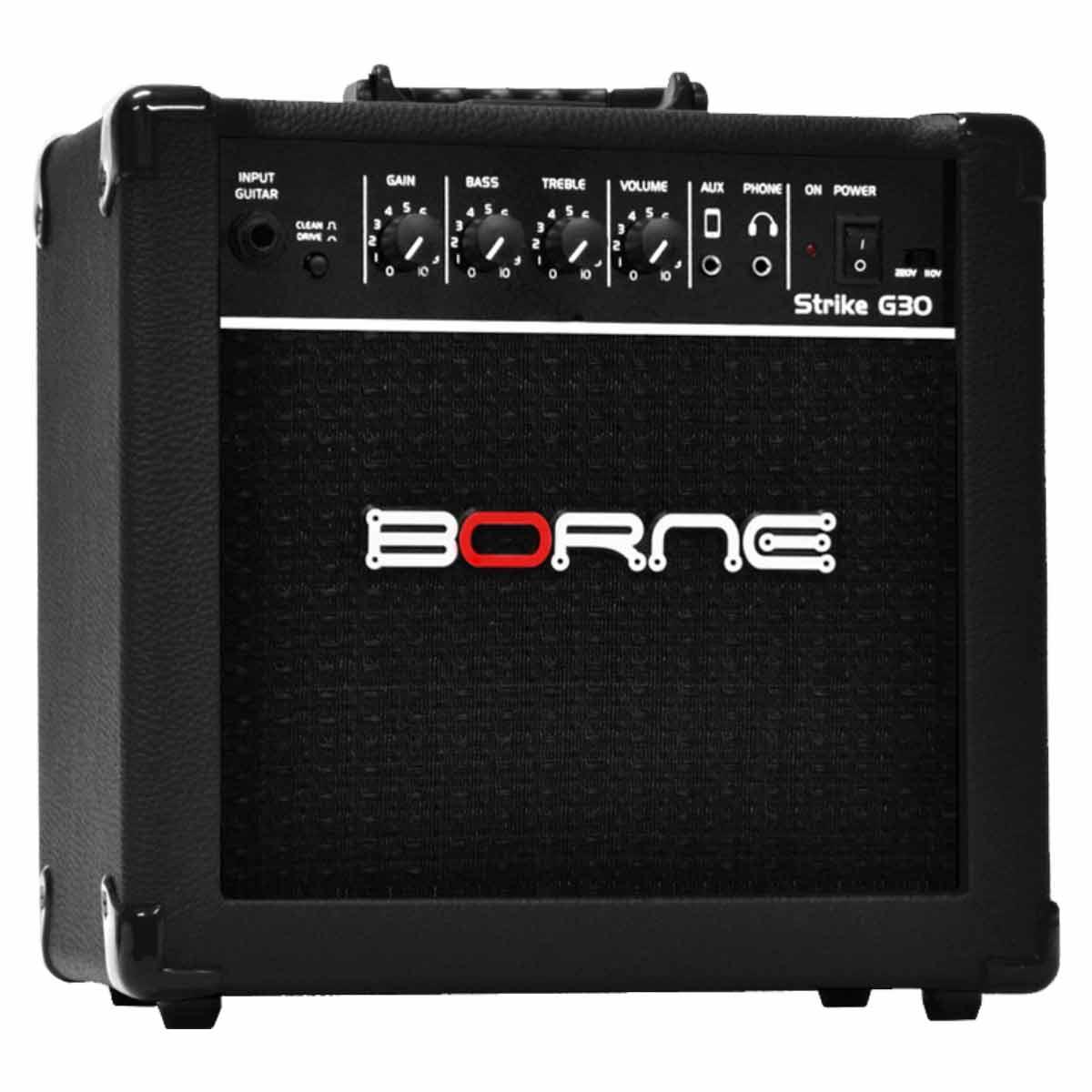 Amplificador Combo p/ Guitarra Strike G 30 Preto - Borne