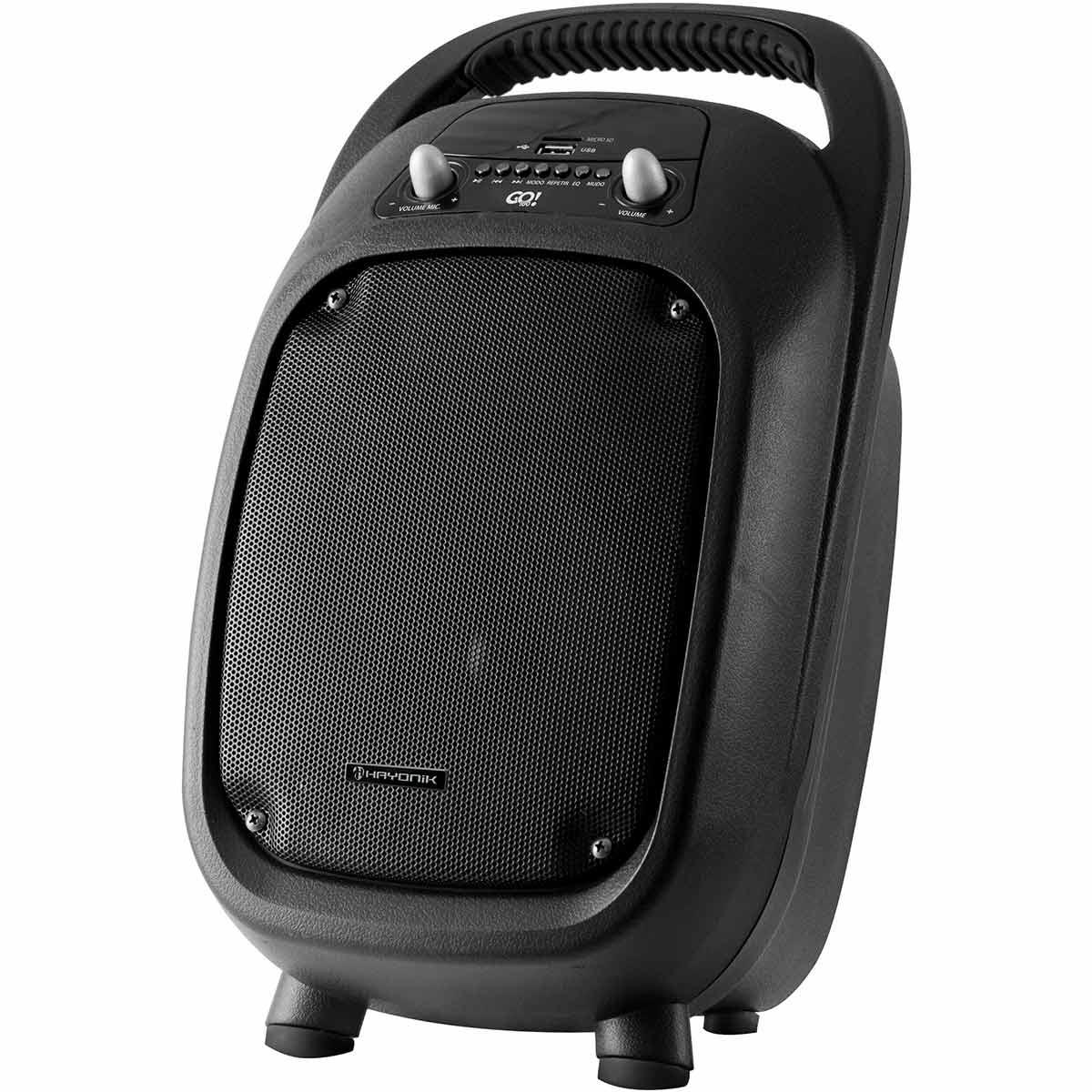 Caixa Portátil 100W c/ Bateria, Bluetooth e USB GO 100 - Hayonic