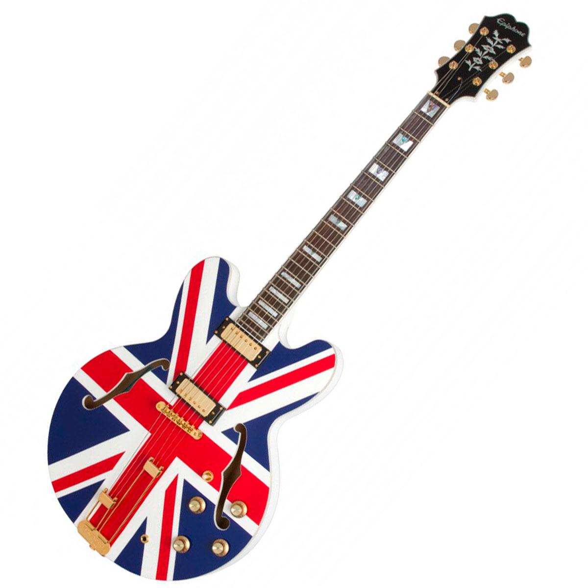 Guitarra Semi Acustica Sheraton Union Jack Limited Edition Alpine White - Epiphone