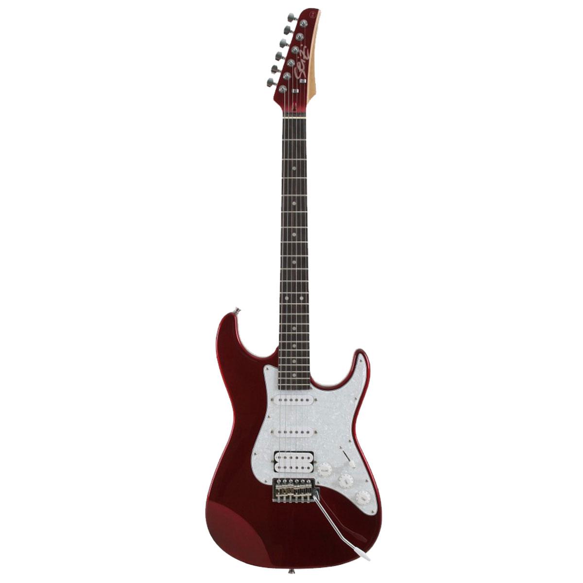 Guitarra Stone Metallic Red Seizi c/ Escudo Branco Perolado - Seizi