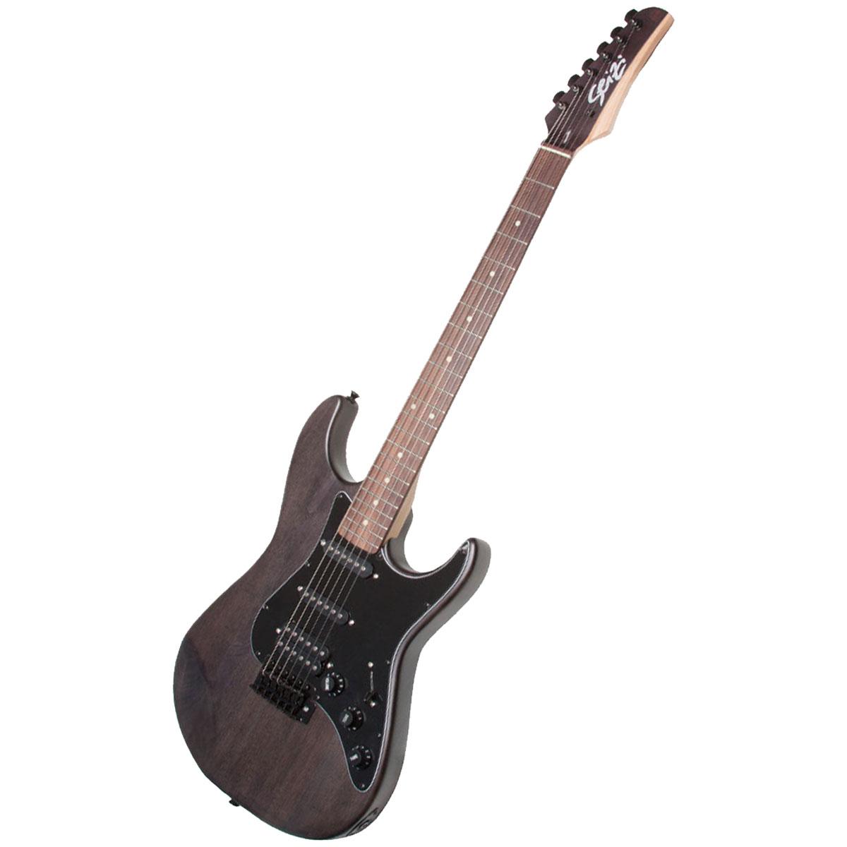 Guitarra Stone RW Satin Black c/ Escudo Preto - Seizi