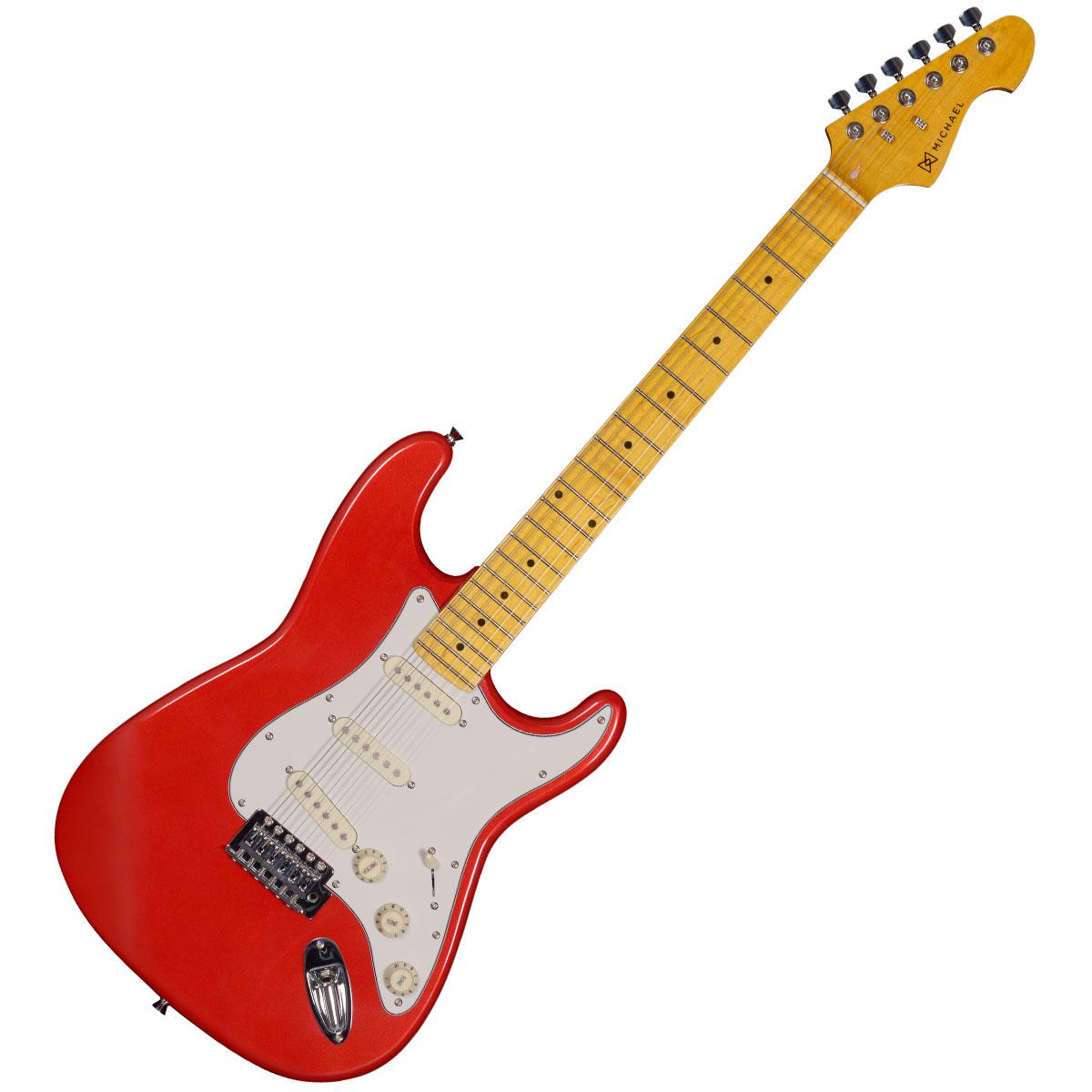 Guitarra Strato Stonehenge GM222N MR Vermelha Metálica - Michael