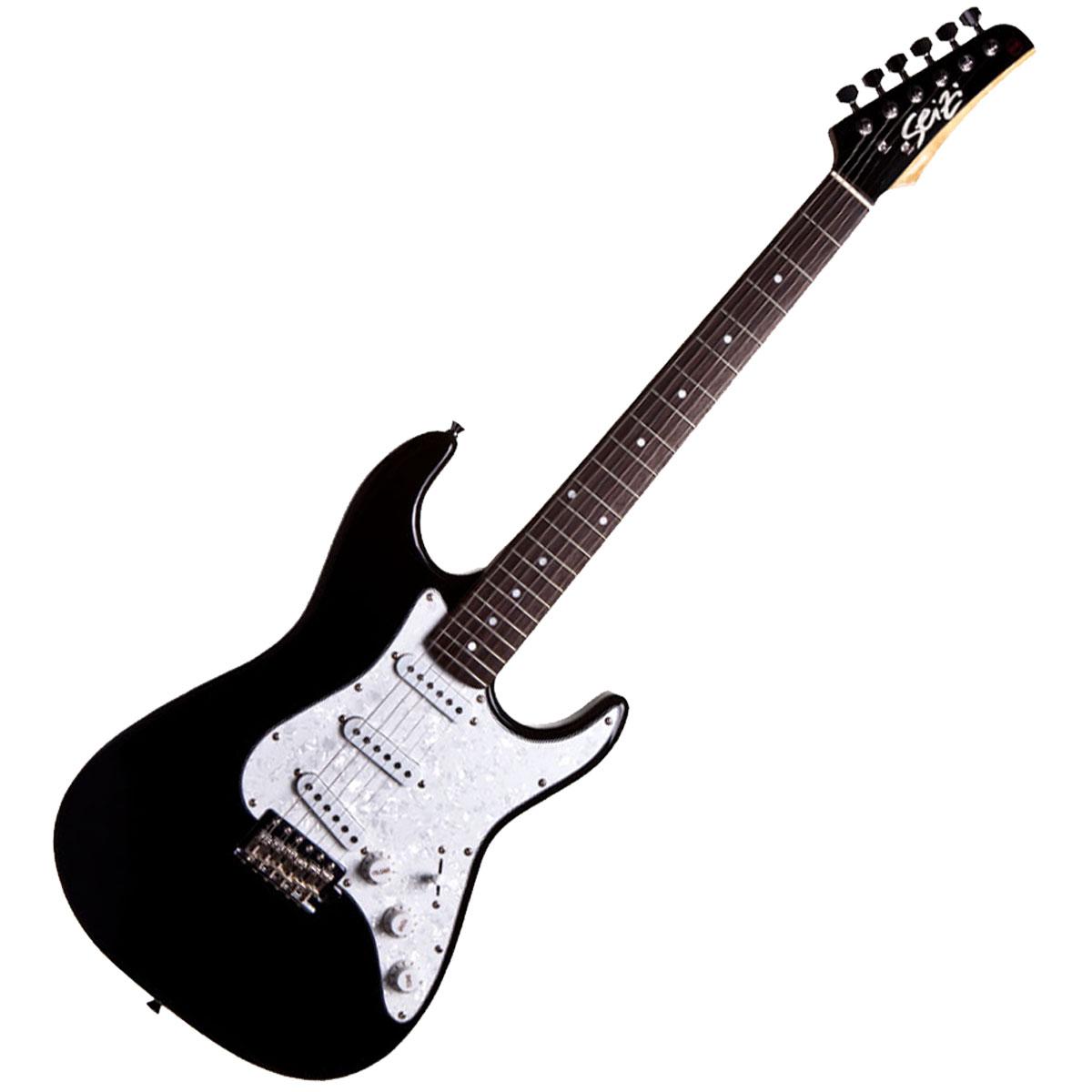Guitarra Vision RW Black c/ Escudo Branco Perolado - Seizi
