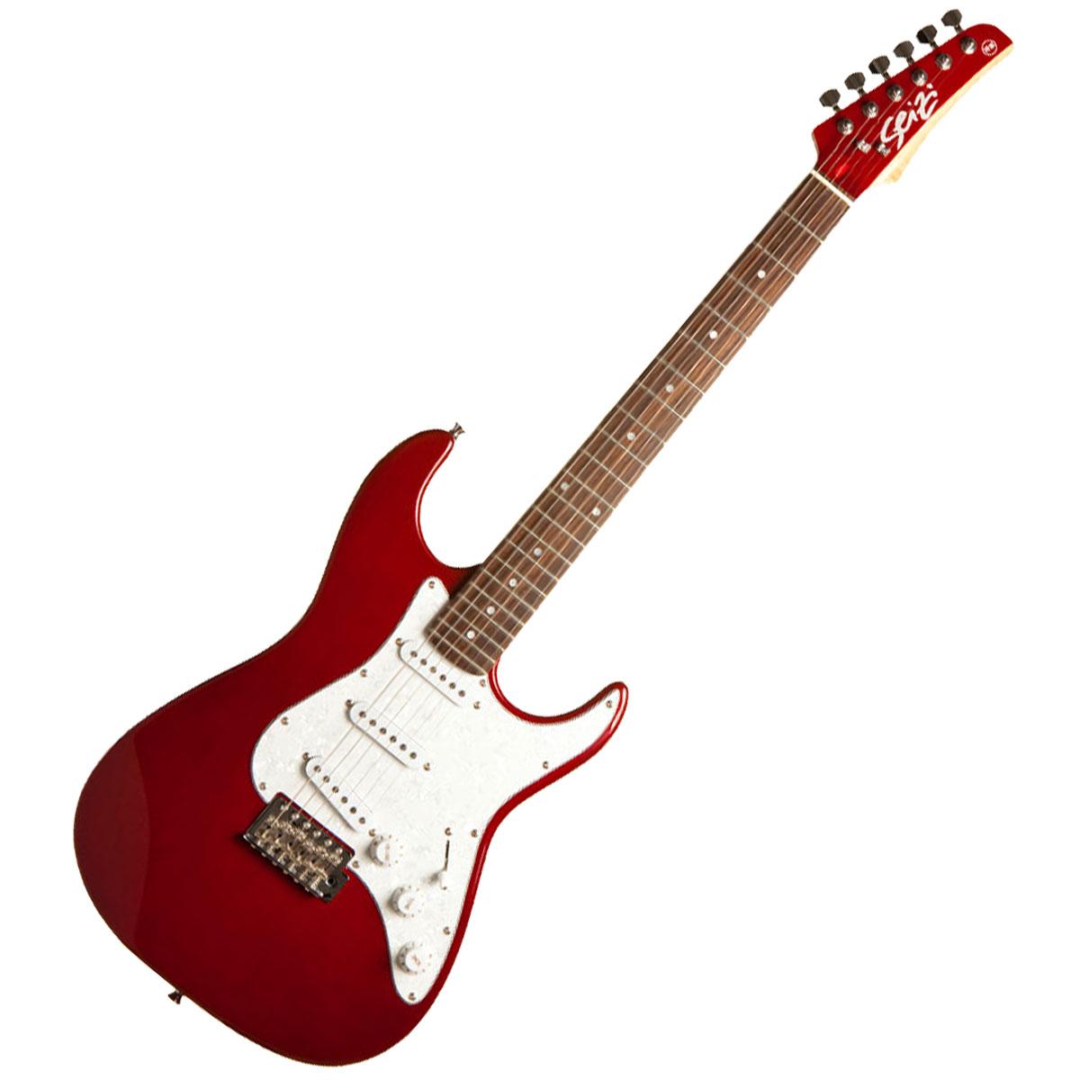 Guitarra Vision RW Metallic Red c/ Escudo Branco Perolado - Seizi