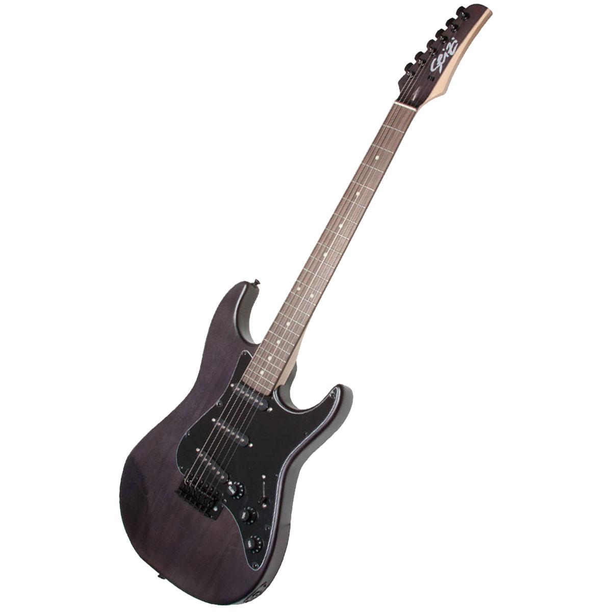 Guitarra Vision RW Satin Black c/ Escudo Preto - Seizi