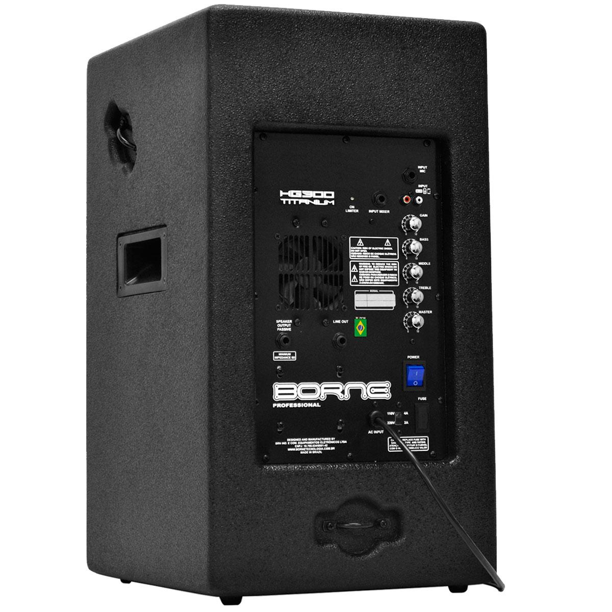 HG300 - Caixa Ativa 200W HG 300 Titanium - Borne