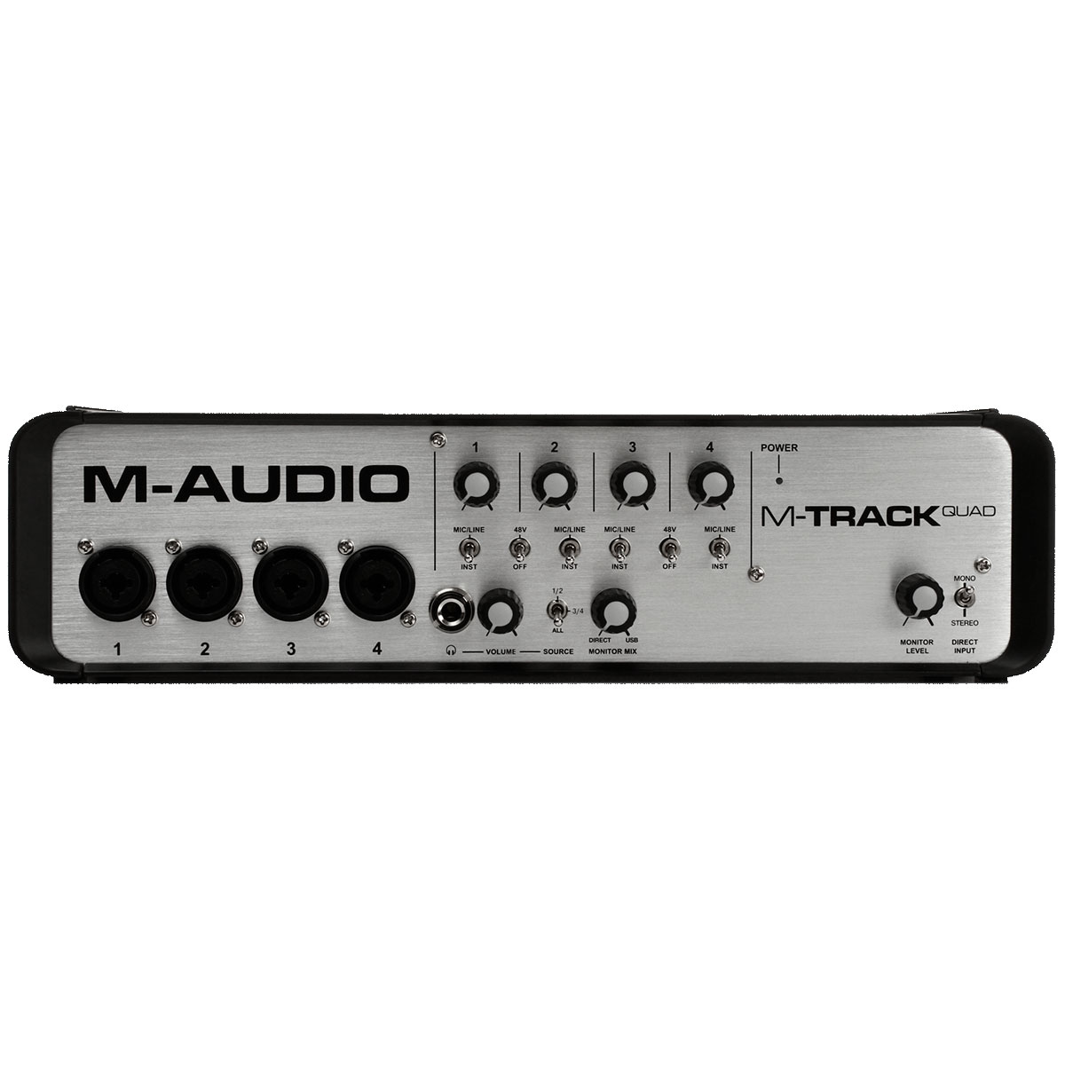 Interface de Áudio 4 Canais USB M-Track Quad - M-Audio