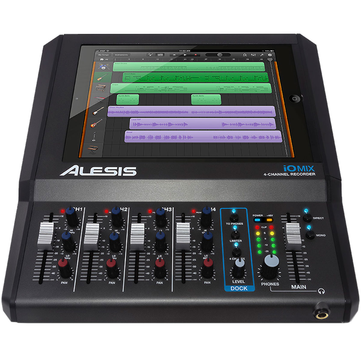 iOMIX - Interface de �udio / Mixer 4 Canais p/ iPad iO MIX - Alesis