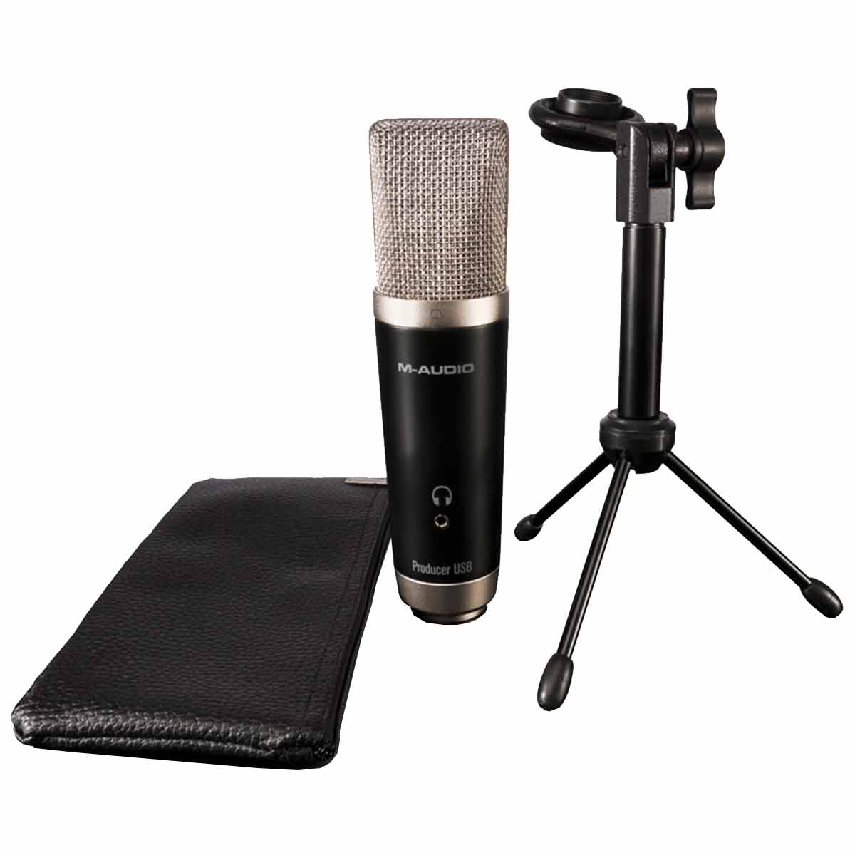 Kit Microfone USB + Software para Estúdio de Gravação Vocal Studio - M-Audio