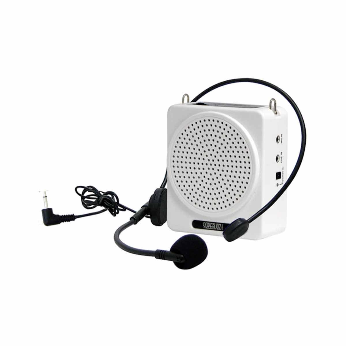 Kit Professor Portátil c/ Caixa + Microfone c/ Fio Supervoz I TSI 625 Branco - TSI