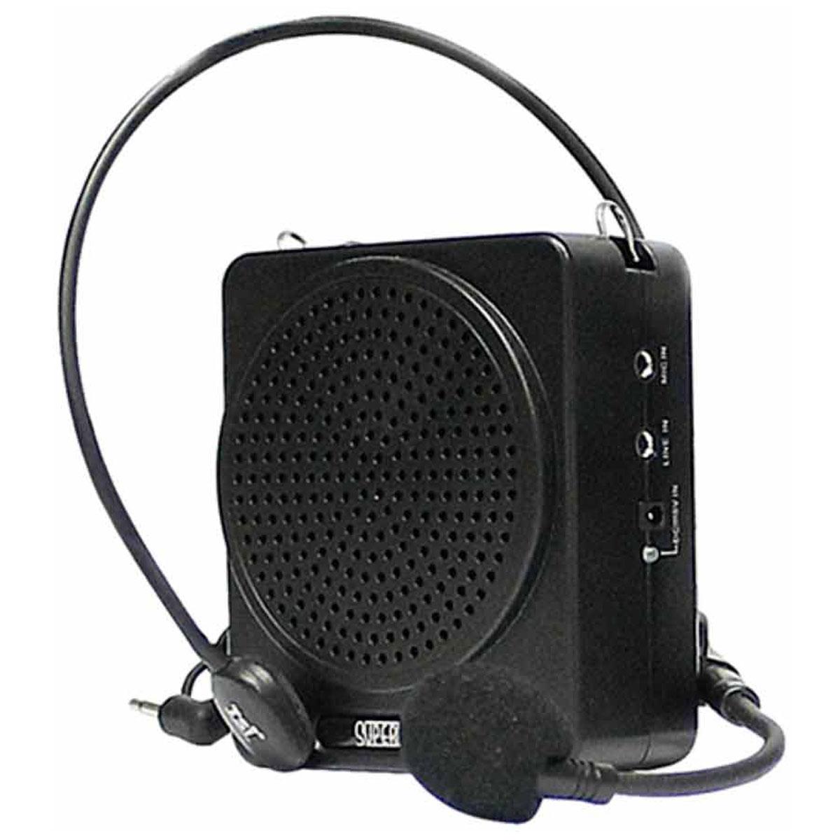 Kit Professor Portátil c/ Caixa + Microfone c/ Fio Supervoz I TSI-625 Preto - TSI