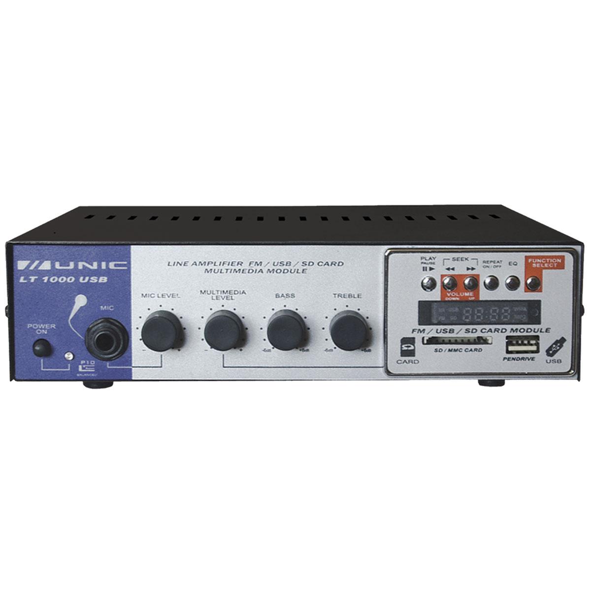 Amplificador Som Ambiente 20W c/ USB e FM LT 1000 USB - Unic