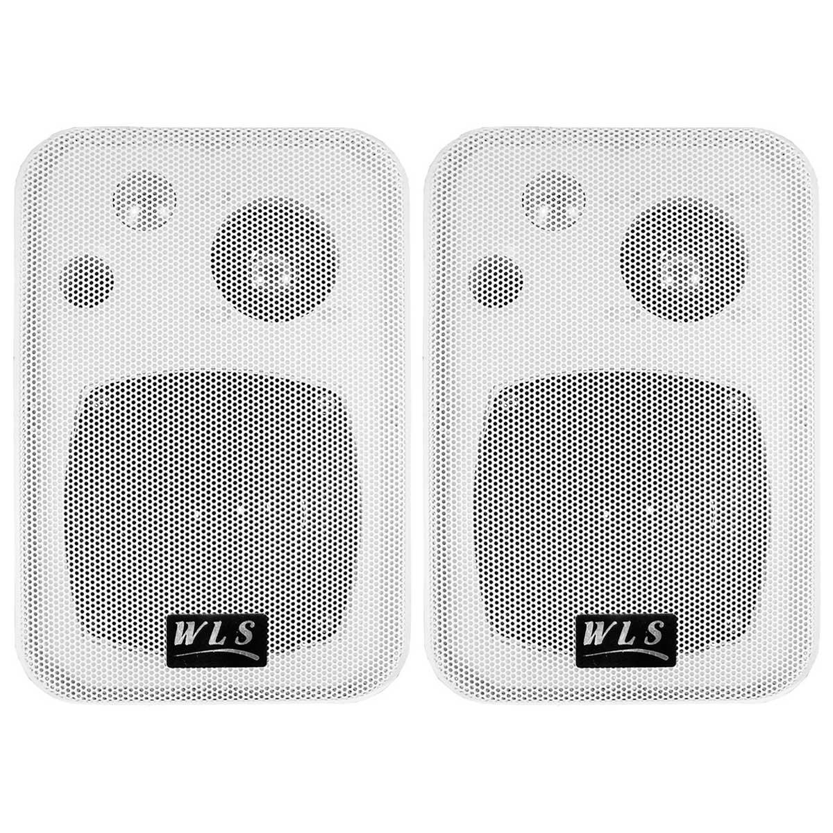 Caixa Passiva 50W Branca c/ Suporte ( Par ) M 4 - WLS