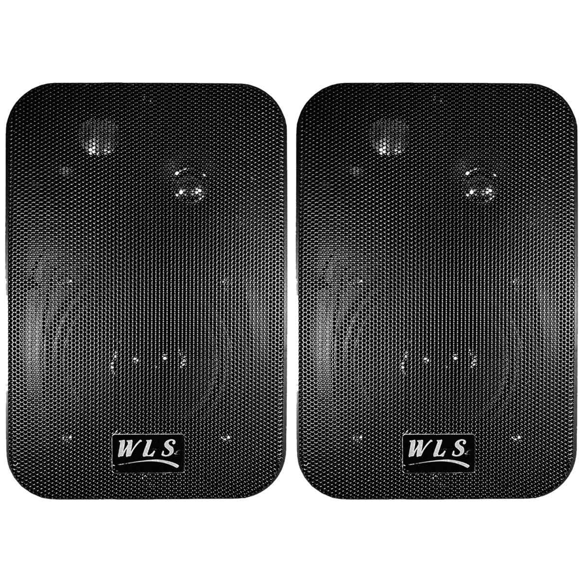 M4 - Caixa Passiva 50W Preta c/ Suporte ( Par ) M 4 - WLS