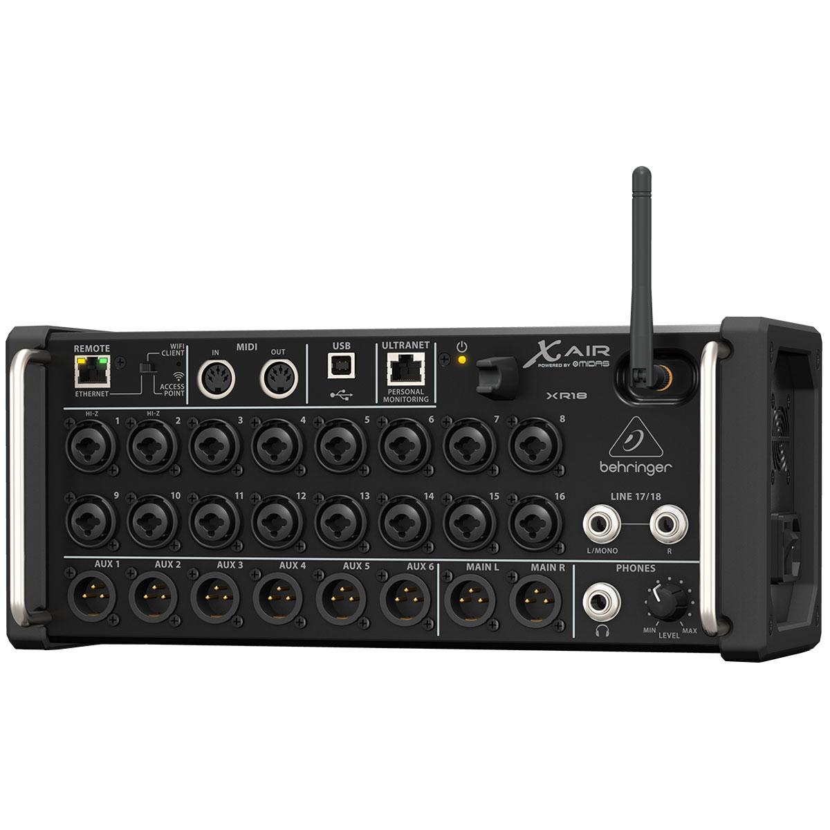 Mesa de Som Digital Wireless 18 Canais X AIR XR18 - Behringer