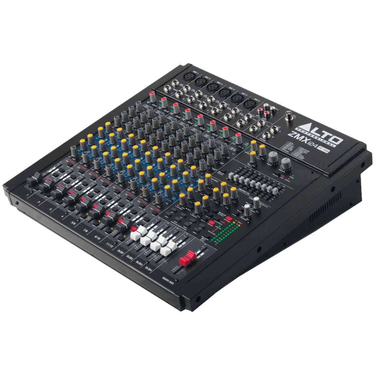 Mesa de Som / Mixer 12 Canais USB Zephyr ZMX124FX USB - Alto