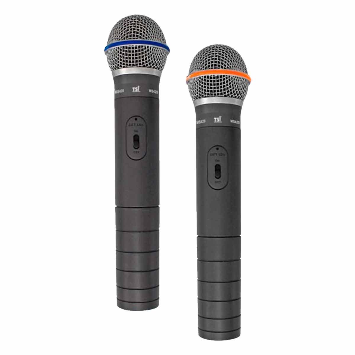 Microfone s/ Fio de Mão Duplo VHF MS-420-VHF - TSI