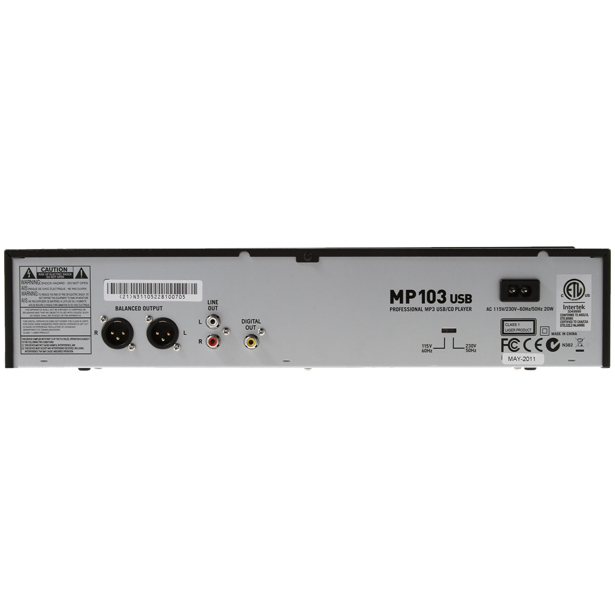 MP103USB - Media Player c/ CD e USB p/ DJ MP 103 USB - Numark