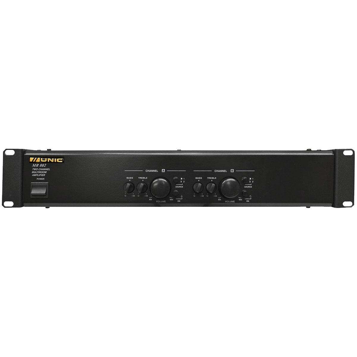 Amplificador Som Ambiente Multicanal 100W MR 802 - Unic