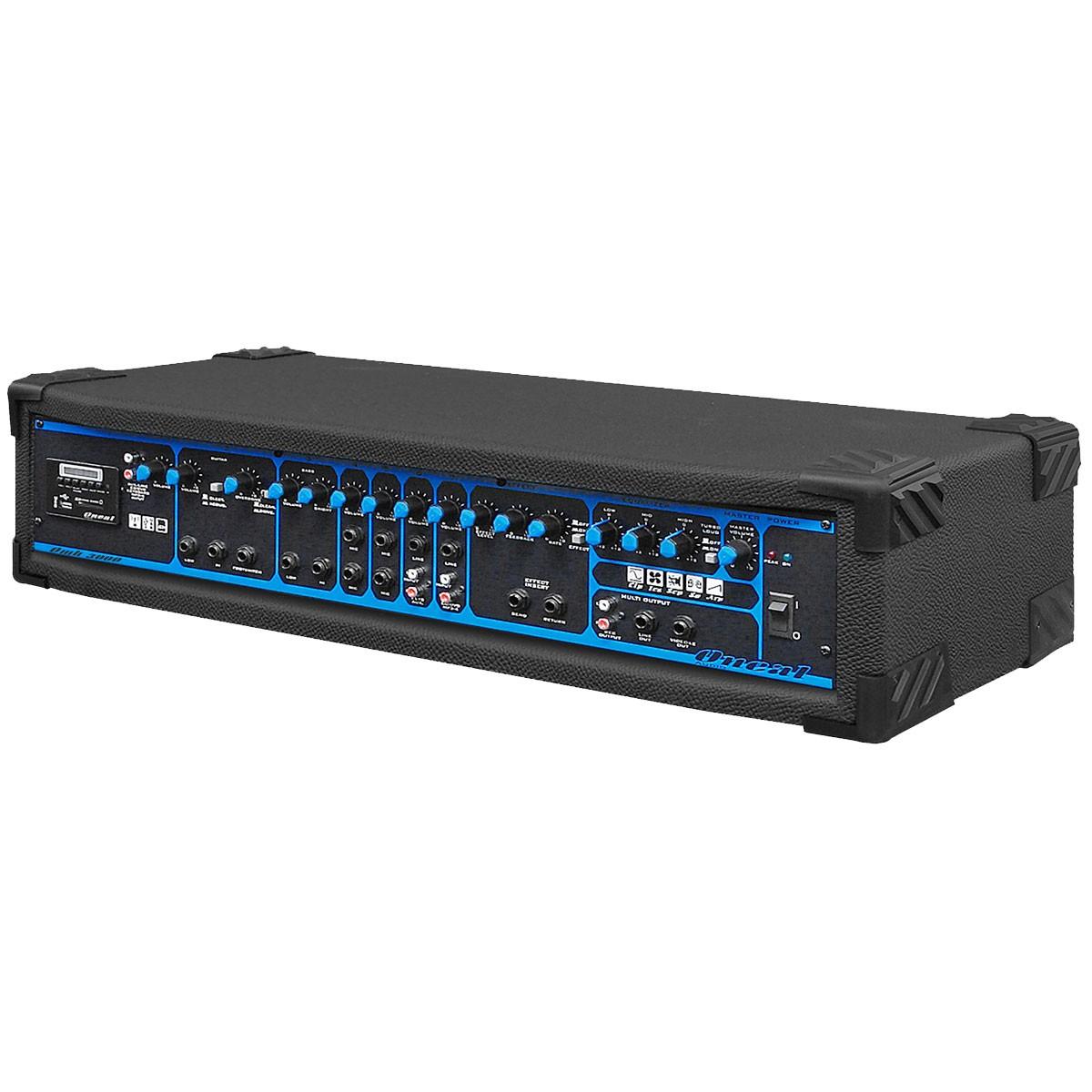 OMH3000 - Cabeçote Multiuso 7 Canais 200W c/ USB e SD Card OMH 3000 - Oneal