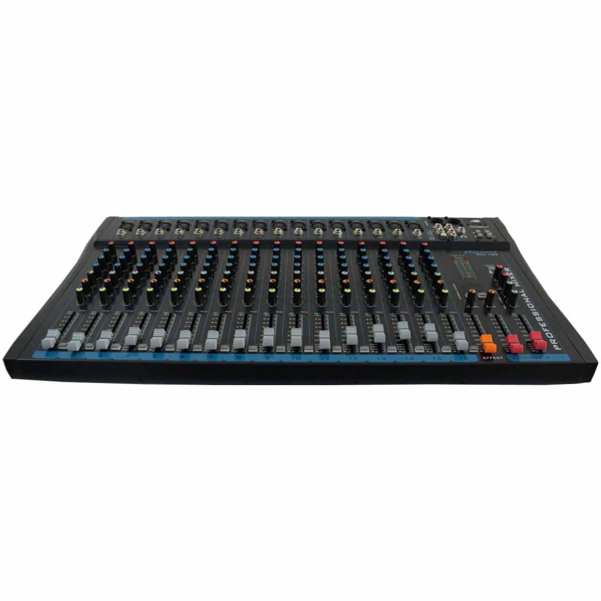 Mesa de Som 16 Canais XLR Balanceados c/ USB / Efeito / Phantom / 1 Auxiliar - OMX 162 Oneal