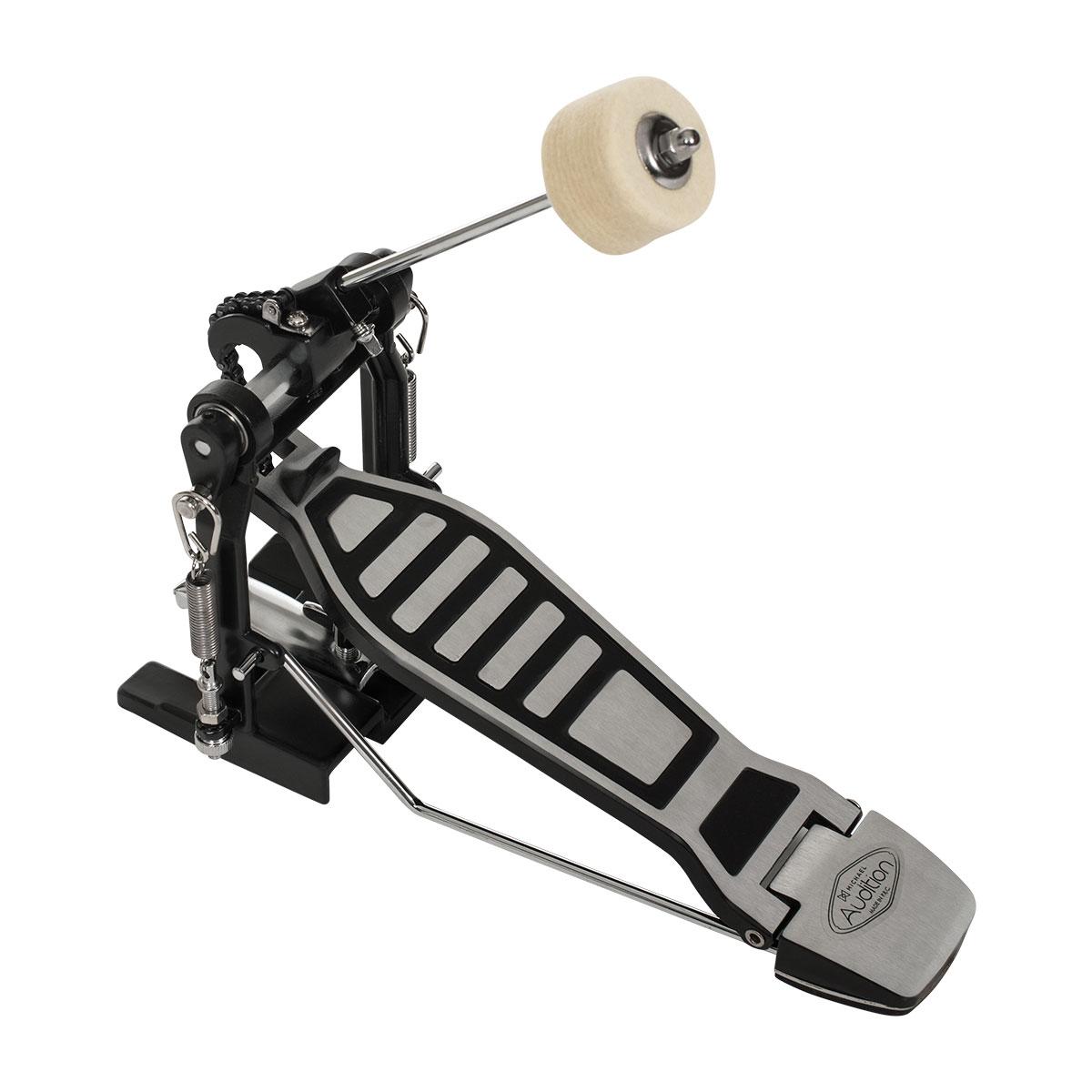 Pedal de Bumbo Audition HM001 Cinza c/ Preto  - Michael