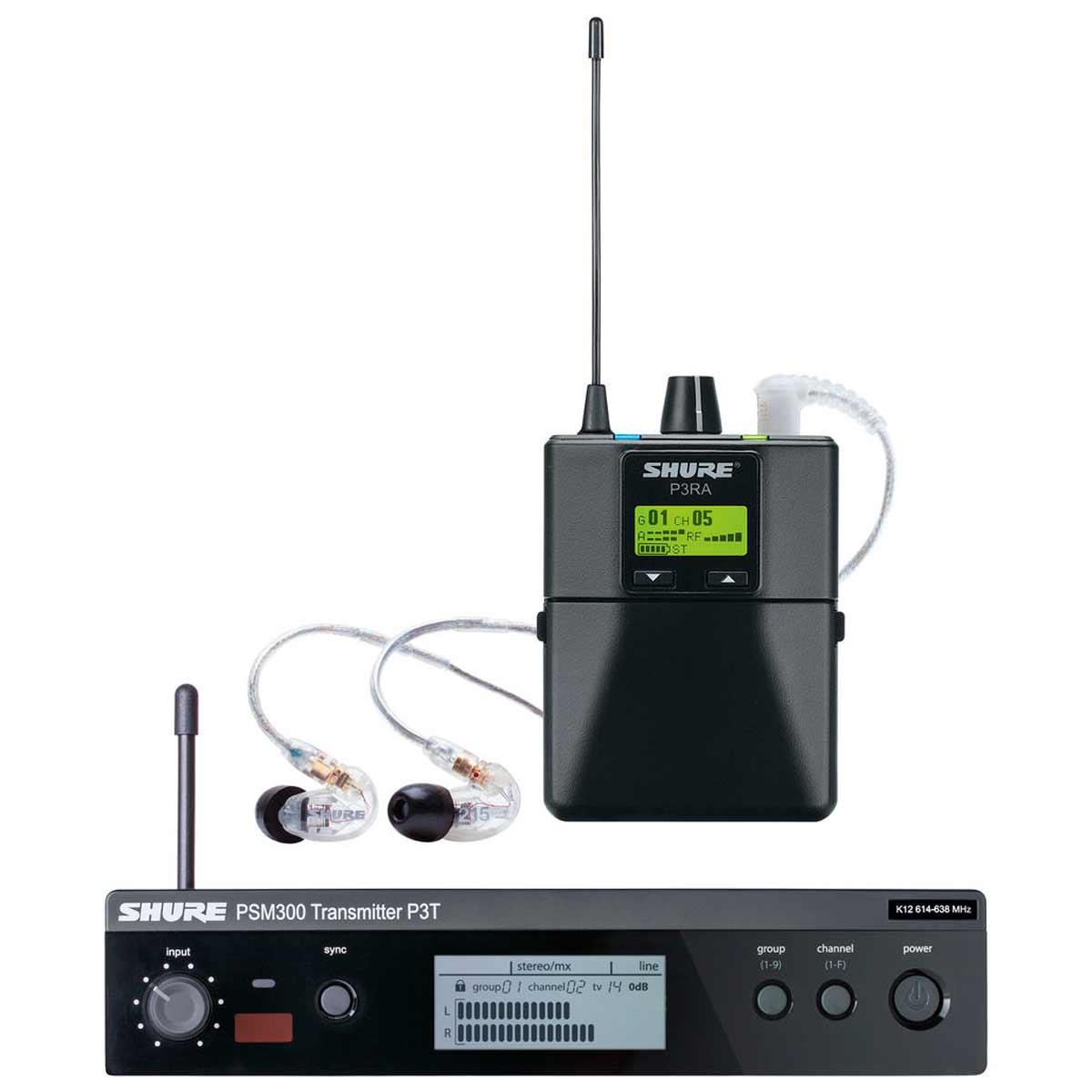 PSM300SE215 - Ponto Eletrônico s/ Fio c/ Fone In-ear PSM 300 SE215 - Shure