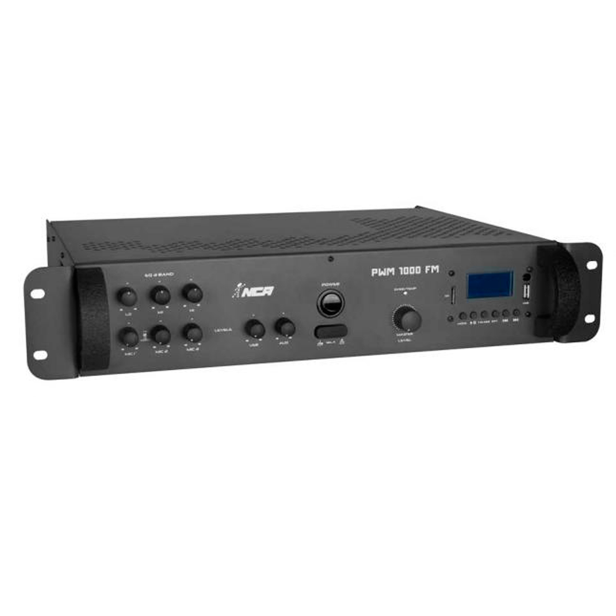 PWM1000FM - Amplificador Som Ambiente 250W c/ USB e FM PWM 1000 FM - NCA