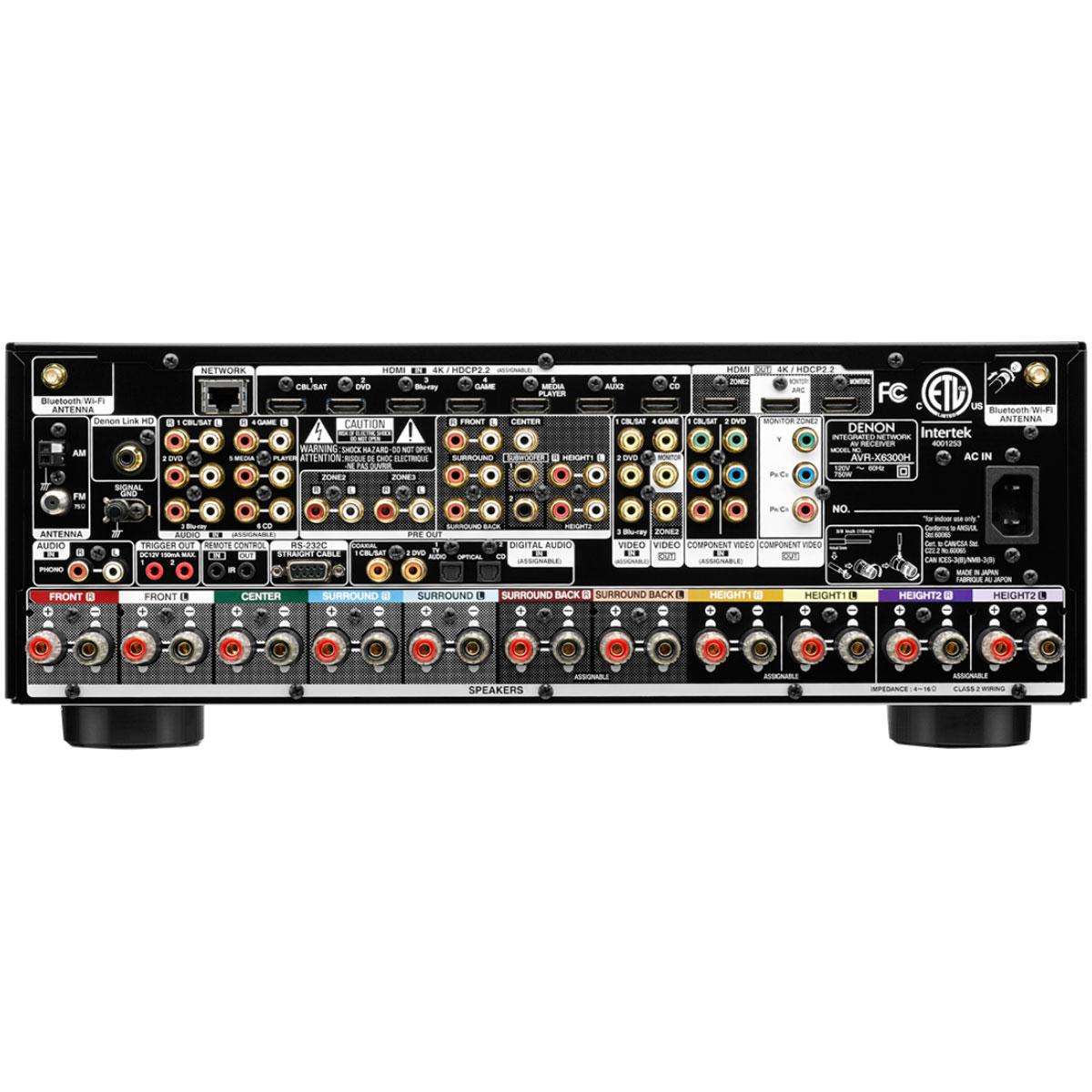Receiver 11.2 Canais c/ 8 HDMI / WIFI / Bluetooth / 4K - AVR X 6300 Denon