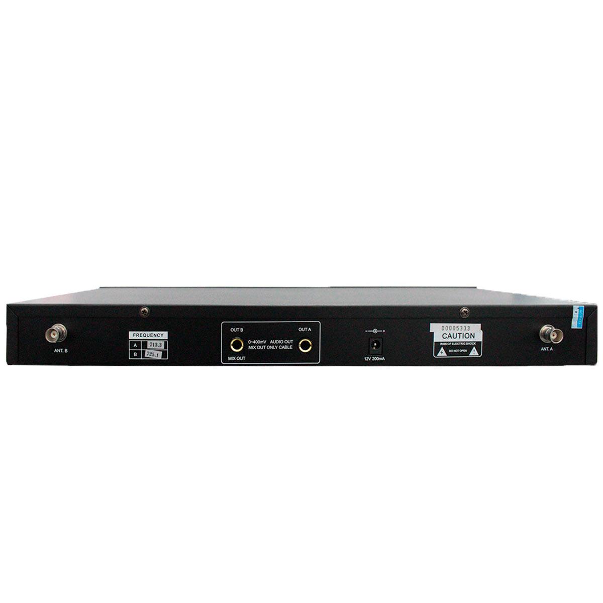Sistema s/ Fio c/ 2 Microfones Gooseneck UHF CSR820B - CSR
