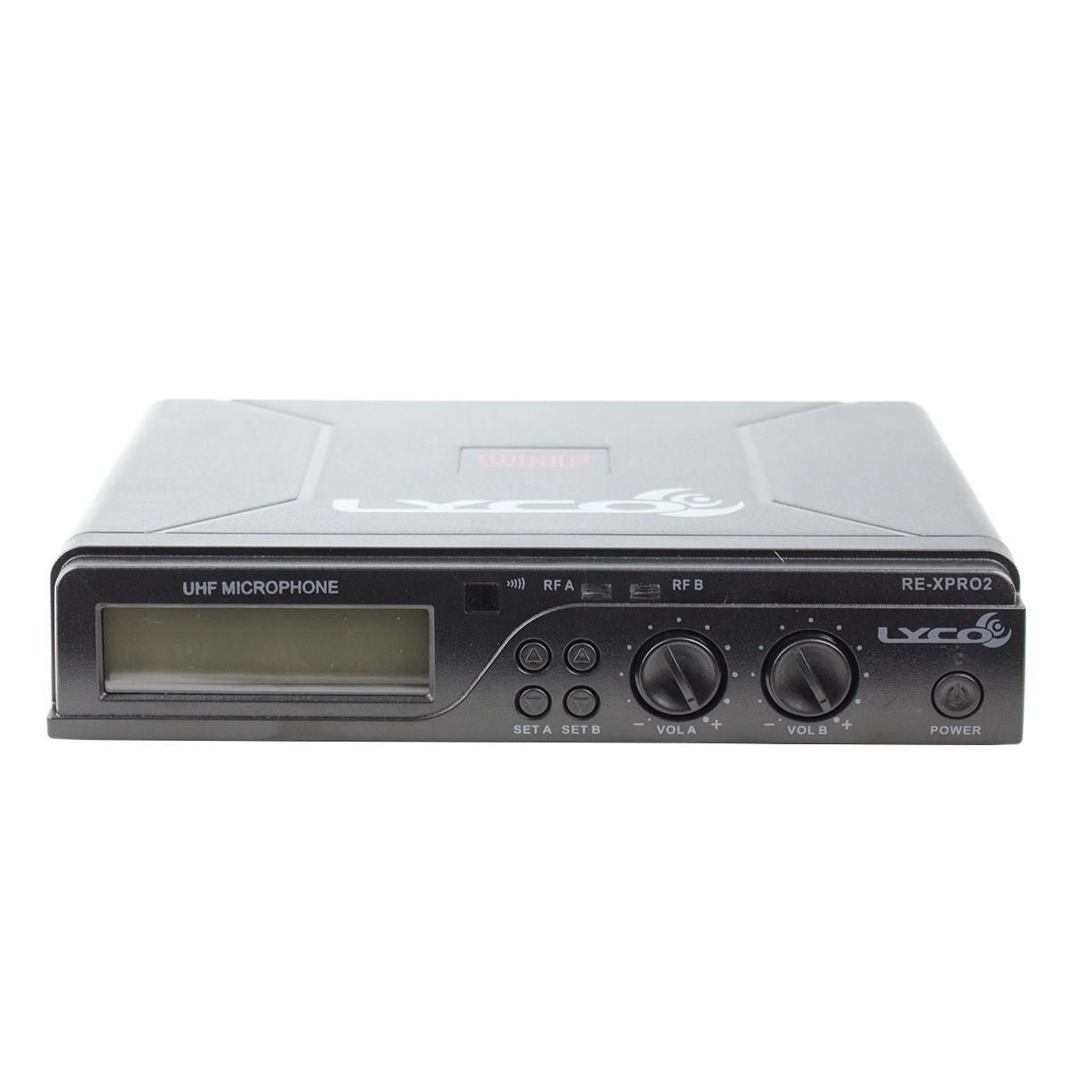 UHXPRO02MM - Microfone s/ Fio de Mão Duplo UHX PRO 02 MM - Lyco