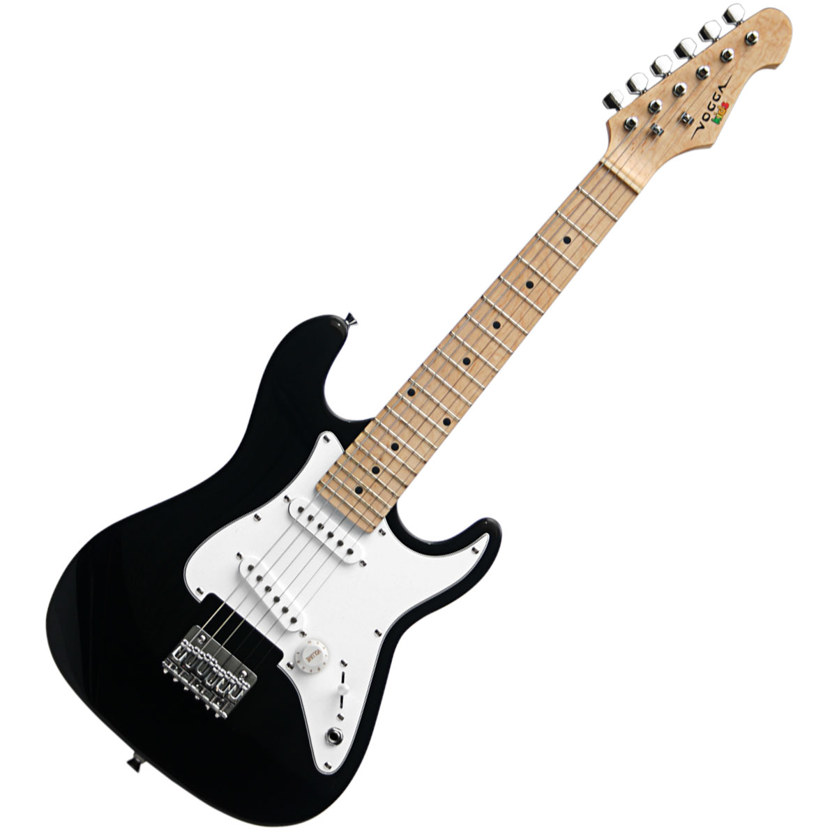 Guitarra Strato Infantil VCG120 Preta - Vogga