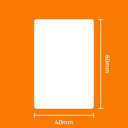 Etiqueta Adesiva Remov�vel Papel Couch� Branca 40 x 60 x 02 - ID Etiquetas