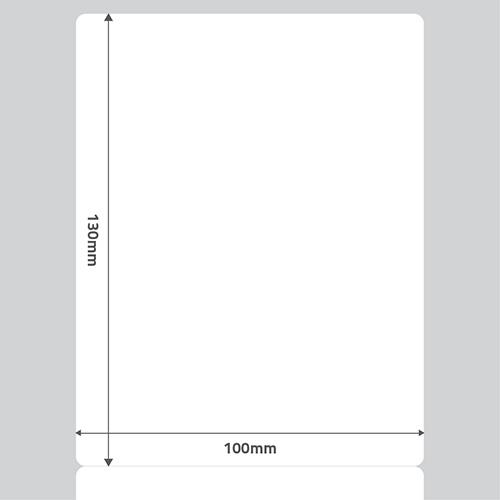 Etiqueta Adesiva BOPP Fosco Branca 100 x 130 x 01 - ID Etiquetas