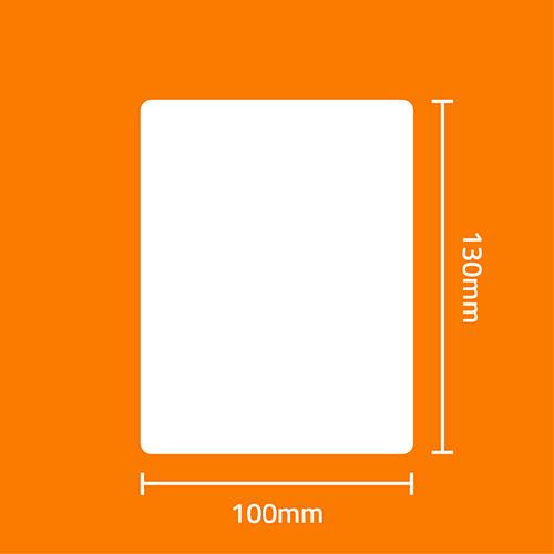 Etiqueta Adesiva BOPP Fosco Branca 100 x 130 x 01 (Grande Porte) - ID Etiquetas
