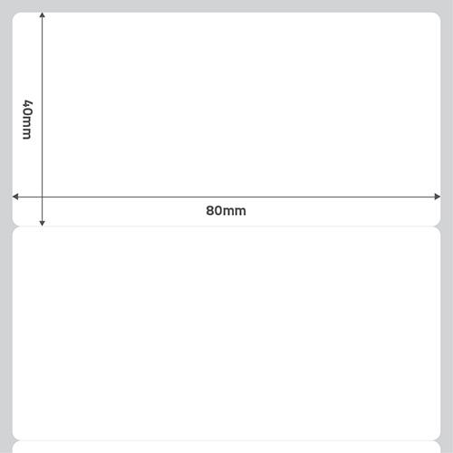 Etiqueta Adesiva BOPP Fosco Branca 80 x 40 x 01 - ID Etiquetas