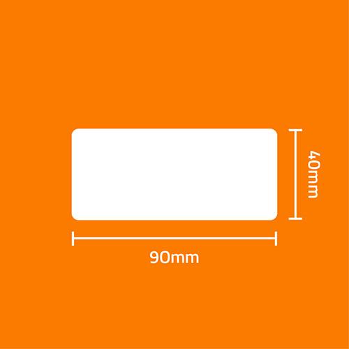 Etiqueta Adesiva BOPP Fosco Branca 90 x 40 x 01 - ID Etiquetas